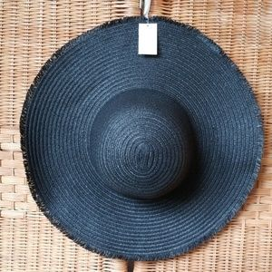 Cute Summer Black Hat Brand New